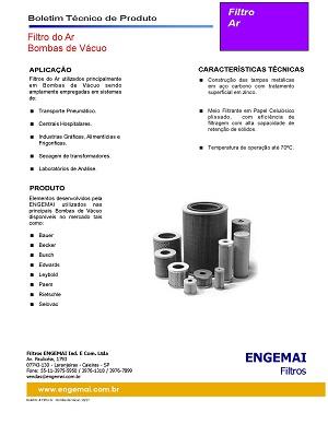 ELEMENTOS DO AR - BOMBAS DE VÁCUO - ENGEMAI