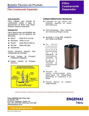 ELEMENTOS DO COMBUSTÍVEL - COALESCENTES & SEPARADORES - ENGEMAI